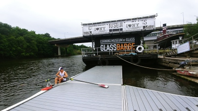 Josh with Corning Glass barge