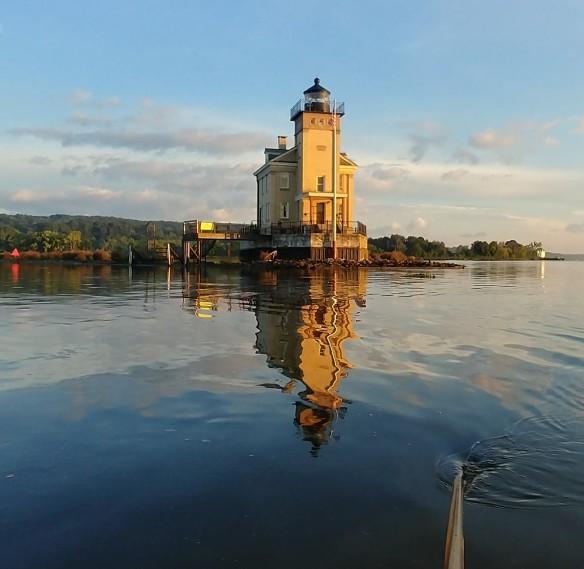 reflection of lighthouse