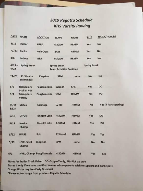 2019 KHS Regattas
