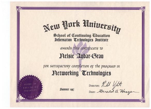 Nelsie 1997 Networking Technologies