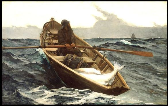 Dory 1885 The Fog Warning by Winslow Homer