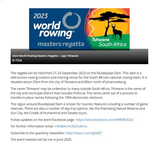 World Rowing Africa 2023