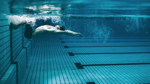 swimmer in turn